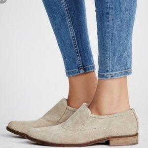 Free People brady taupe suede loafers
